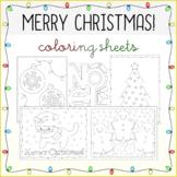 Christmas Holiday Coloring Sheets 2