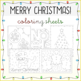 Christmas Holiday Coloring Sheets 2