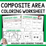Area of Composite Figures Coloring Worksheet
