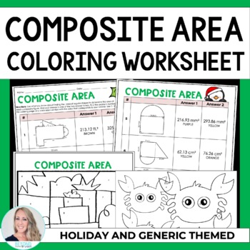 Area Of Composite Figures Coloring Worksheet By Lindsay Perro Tpt