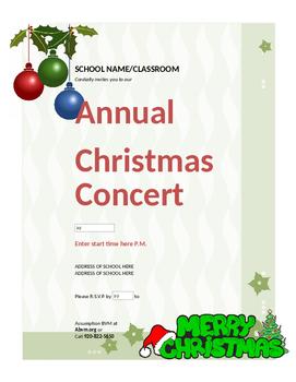 Christmas/Holiday Concert Invitation