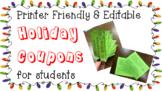 Christmas Holiday Coupon gift for students