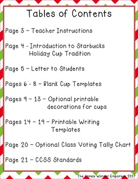 christmas holiday craftivity create a holiday cup opinion writing