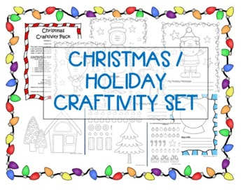 Christmas / Holiday Craftivity Pack / Classroom Arts & Crafts