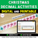 Christmas Holiday Decimal Activities