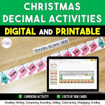 Christmas Holiday Decimal Activities