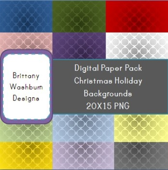 Christmas Holiday Digital Paper Background Pack 1
