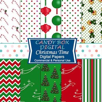 Christmas Holiday Digital Papers