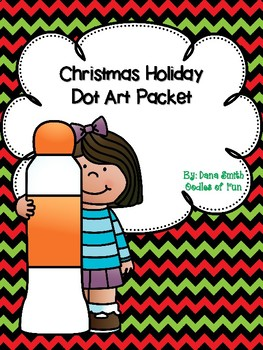 Christmas Holiday Dot Art Packet