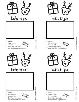 Christmas Holiday ELA Classroom Community Building Activity