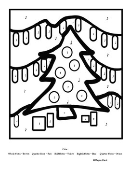 Christmas Holiday Elementary General Music Coloring Worksheets