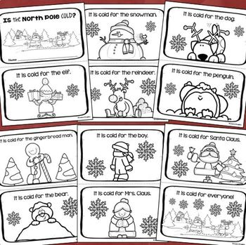 Christmas Holiday Emergent Reader Book Sight Words: It, Is, Cold, For, The