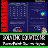 Christmas Equations PowerPoint Review Game
