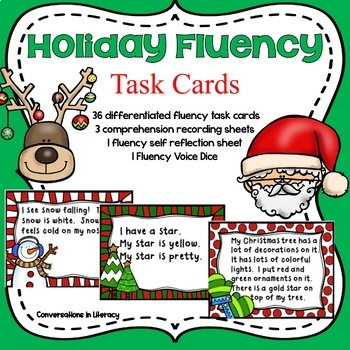 Christmas Holiday Fluency Task Cards