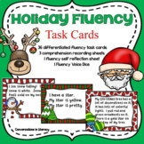 Fluency Task Cards Christmas Holiday Activities