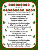 Christmas Holiday Fractions Around the Christmas Tree Song and Craft Activity