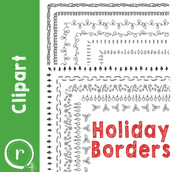 Christmas Holiday Borders (RDS Clipart)