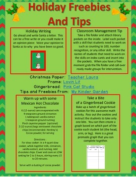 Christmas Holiday Freebies and Tips