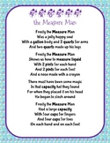 Christmas Holiday Frosty the Measure Man Song and Craft Activity (Volume)