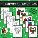 Christmas/Holiday Geometry Color Sheets (Congruence, Pytha