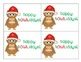 Christmas Holiday Gift Tag Labels Owl Themed