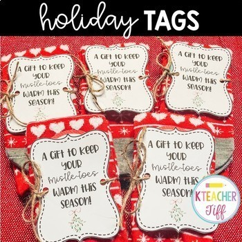 picture regarding For Your Mistletoes Printable Tags named Socks Reward Tag Worksheets Coaching Elements TpT