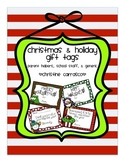 Christmas & Holiday Gift Tags (Editable & PDF)
