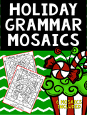 Christmas Holiday Grammar Mosaics- Color By Part of Speech