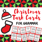Christmas/Holiday Grammar Review Task Cards