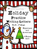 Christmas Holiday Handwriting Practice Uppercase & Lowerca