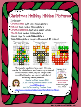 Christmas Holiday Hidden Pictures