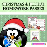 Christmas & Holiday Homework Passes