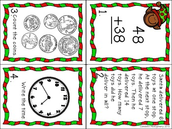 Christmas Holiday Hop (A math scoot activity)