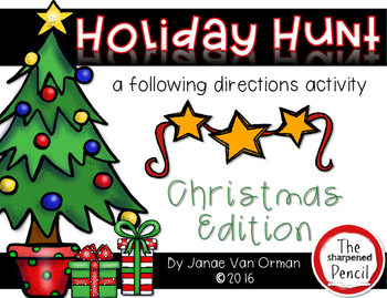 Christmas Holiday Hunt ~ Listening and Following Directions