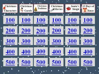Christmas Holiday Jeopardy