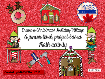 Christmas/Holiday Junior Math Project - Create a Christmas
