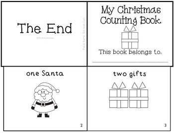 Christmas Holiday K-1 Emergent Readers Mini-Books Set of 4!