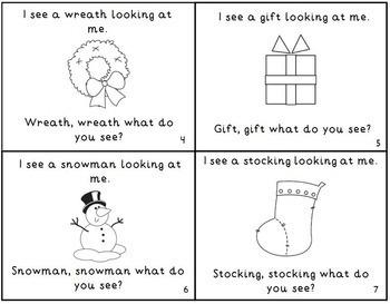 Christmas Holiday K-1 Emergent Readers Mini-Books Set of 4!