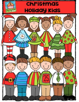 Christmas Holiday Kids {P4 Clips Trioriginals Digital Clip Art}