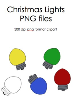 Christmas / Holiday Light Bulb Clip Art
