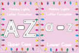 Christmas Holiday Lights Alphabet Letter Formation Cards -
