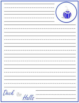 Christmas Holiday Lined Writing Paper