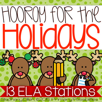 Christmas Holiday Literacy Stations and Center Activities {Common Core Aligned!}