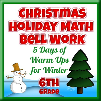 Christmas Holiday Math Bell Work - 5 Days