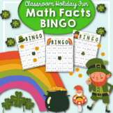St. Patrick's Day Holiday Math Facts Bingo Game Center