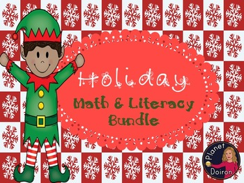 Christmas Holiday Math Literacy STEM STEAM bundle