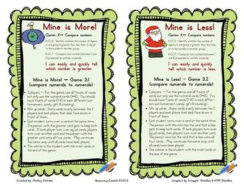 Christmas Holiday Math Stations/Centers-CCSS {Kindergarten} - numbers to 10