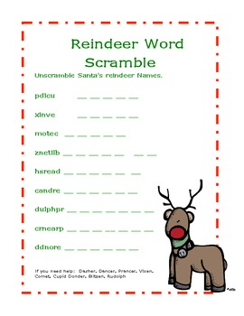 Christmas Holiday Math and Word Work Center Activities Pack
