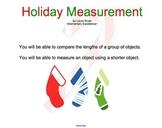 Christmas Holiday Measurement SMARTBOARD Activity