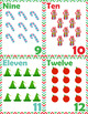 Christmas Holiday Number Set